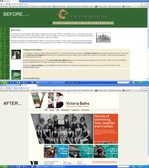 "image of VB website ""before and after"""